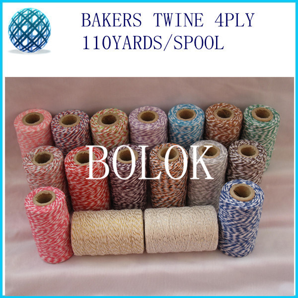 ⑤5 unids/lote fino Bakers Twine 4 capas (110 metros/carrete) hilo ...