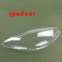 For Peugeot 307 03 07 Front Headlamps Transparent Lampshades Lamp Shell Masks Headlights Cover Lens 2PCS