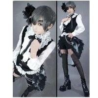 Kuroshitsuji Black Butler Ciel Phantomhive Cosplay Costume with Socks Custom Made