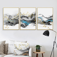 Gold Posters Lnk Abastract Yellow Wall Art Canvas Painting Cuadros Nordic Poster Picture Wall Pictures For Living Room Unframed