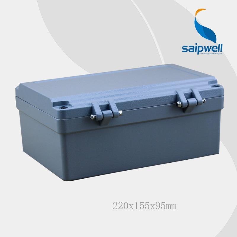2015 offre spéciale Saipwell 220*155*95mm IP67 boîtier en aluminium étanche (4 vis pièces) avec SP-AG-FA14 de haute qualité
