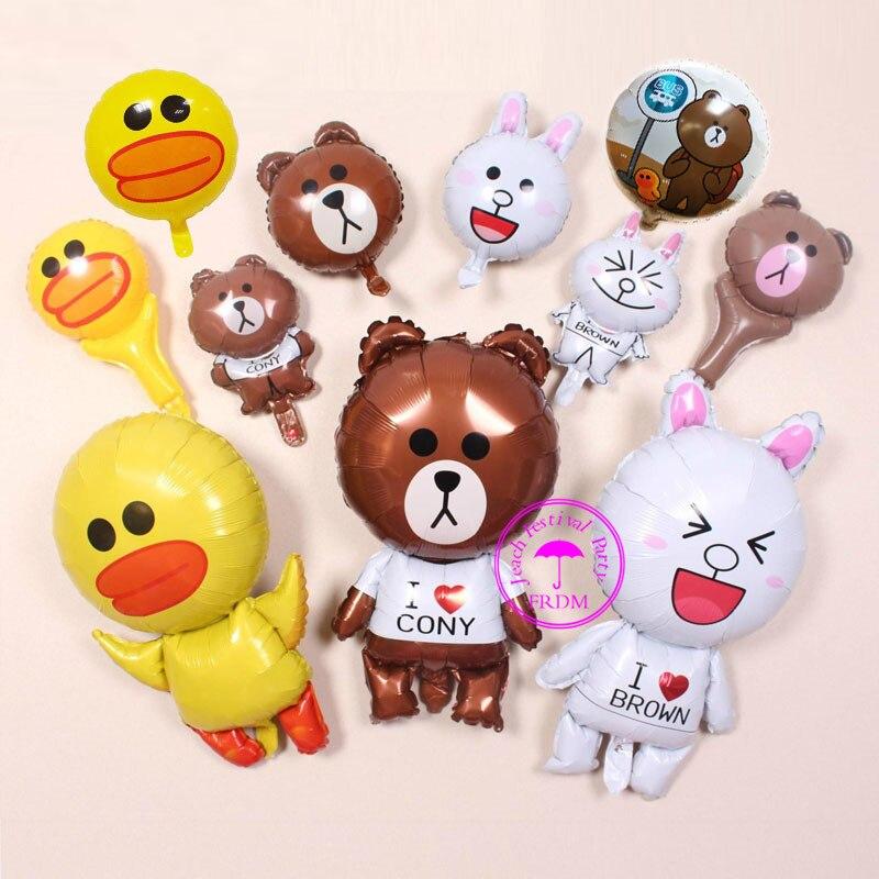 foil duck balloons ballons custom printed party decoration birthday baloons rabbit bear balloon baby toys