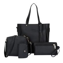 4pcs Woman Bag Set 2019 New Fashion Female Purse and Handbag