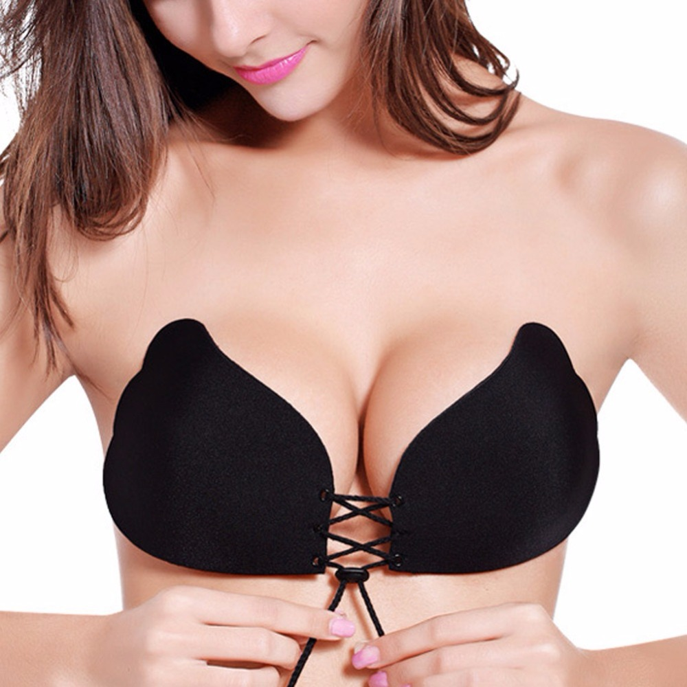 d783a228090 sexy silicone invisible backless push up strapless bra for women ...