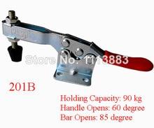 5PCS 90KG 198LBS U Shaped Bar Flanged Base Horizontal Toggle Clamp 201B replacing red long handle u bar 500lbs horizontal toggle clamp 203p