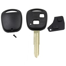 2 Button Remote Car Key Shell Case For Toyota Yaris With TOY41 Uncut Blade With Rubber Button Pad