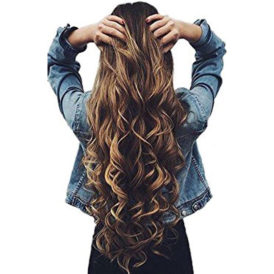 JINKAILI פאה ארוך סינטטי שיער הרחבות סוד דגי קו נוכריות משיי ישר אמיתי טבעי סינטטי