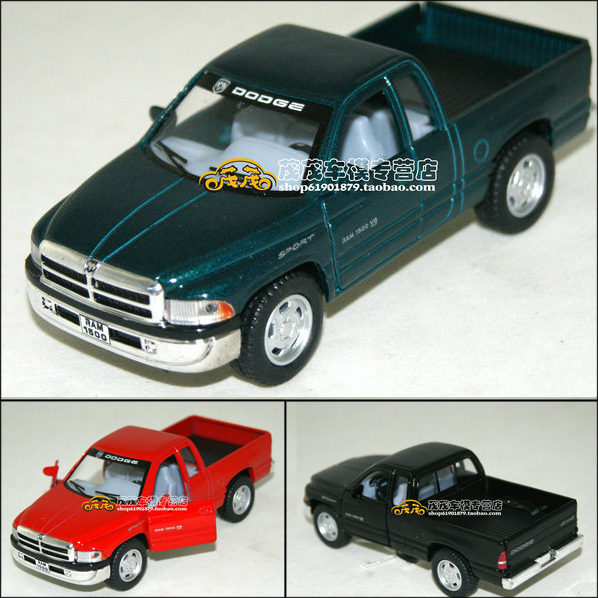 Dodge truck soft world 3 Picard's open the door chromophous WARRIOR alloy car model