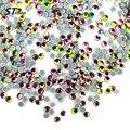 1440 pcs de Vidro Colorido Stons Prego 3d Art Decorações Glitter Hotfix Cristal Pedrinhas para Unhas DIY Acessórios NRS03