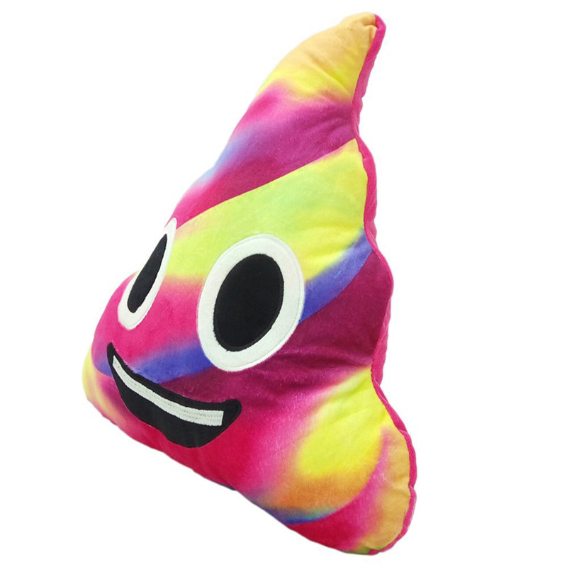 Mix Color 20cm/30CM Amusing Emoji Emoticon Cushion Heart Eyes Poo Shape Pillow Doll Toy Gift rainbow poop pillow drop shipping