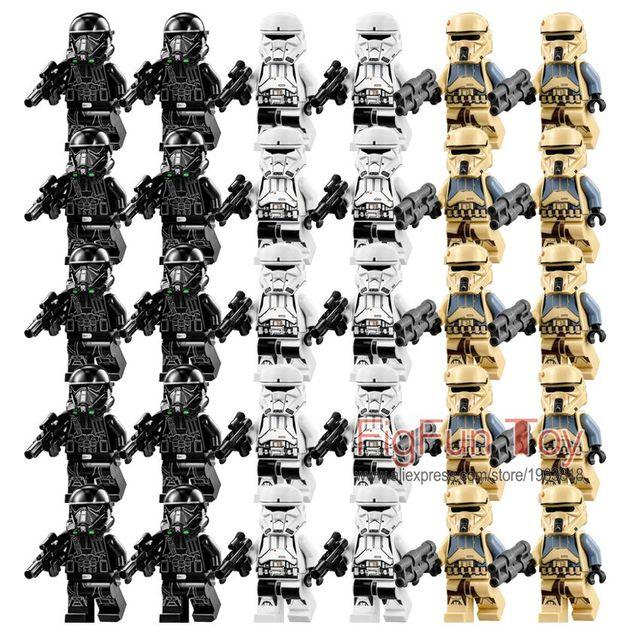 30 Unids Nueva versión Rogue Uno de la Muerte Imperial Storm Trooper Trooper de Star Wars Figuras CONJUNTO de Bloques de Construcción de Juguetes Para Niños de Regalo