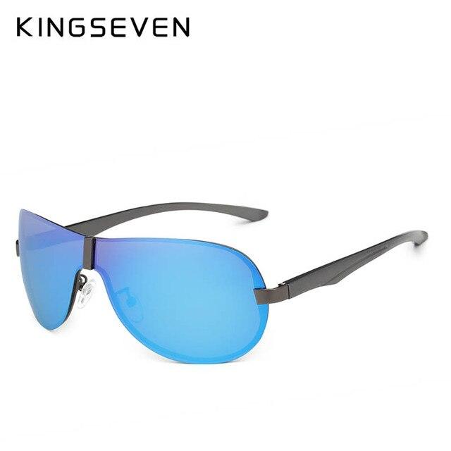 KINGSEVEN 2018 Luxury Brand Design Polarized Sunglasses Men Aluminum Big Mirror Lens Sun Glasses Male Goggles Eyewear Oculos  3