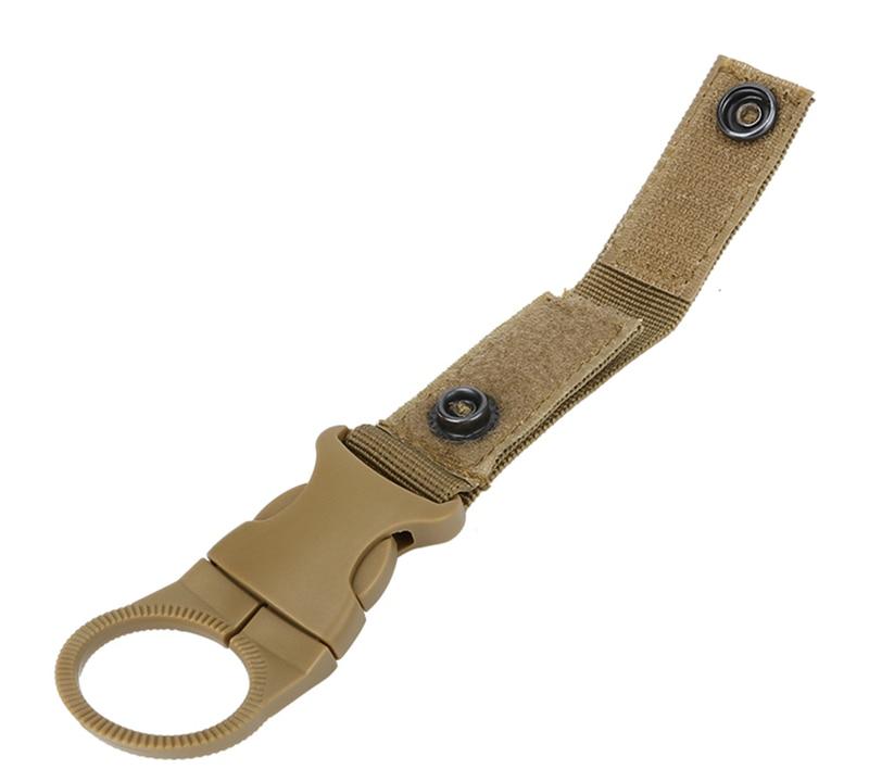 Outdoor military Nylon Webbing Buckle Hook Water Bottle Holder Clip EDC Climb Carabiner Belt Backpack Hanger Camp (17)
