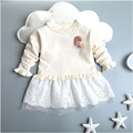 Hot Sale High Quality Baby Girls Sweater Dress Children Warm Winter Princess Sweater Toddler Girls Clothing 2 Color YY0773