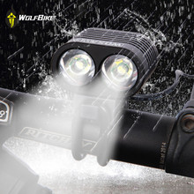WOSAWE Bicycle Light Ultra Bright 2 LED 2400Lumen Bike Light CREE XML T6 Bicicleta Front Head Light Cycling Lamp With USB Cable