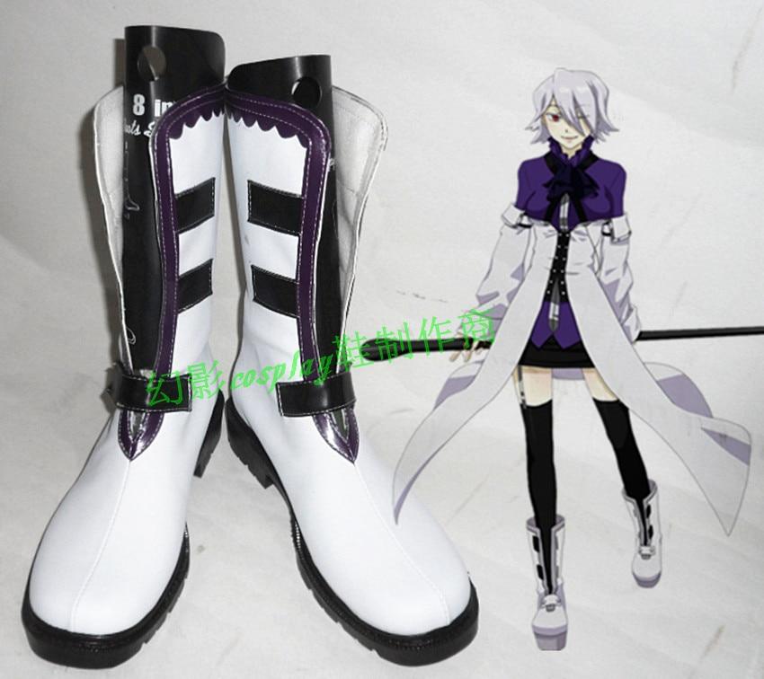 Pandora coeurs Xerxes Break blanc Halloween court Cosplay chaussures bottes H016