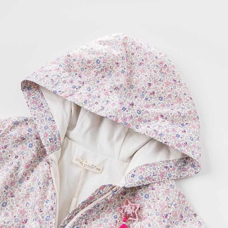 DBZ6983 דייב bella אביב תינוקות תינוק בנות ברדס מעיל ילדים פרחוני הלבשה עליונה פעוט ילדים באיכות גבוהה יפה בגדים