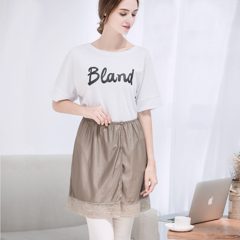 Pregnant Women With Radiation Proof Clothing For Pregnant Women In The Four Seasons Wear Silver Fiber Apron silver fiber women clearance inventory radiation proof vest tops easing anti radiation maternity dresses rfid block apparel