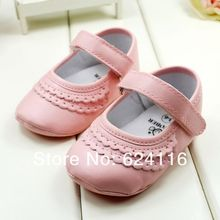 BX39 6pairs lots Lovely New Baby Shoes Little Princess PU Leather Prewalkers First Walkers Infant