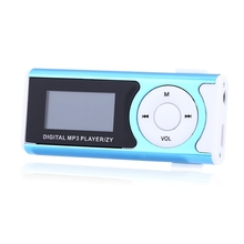 Mini clip LCD screen MP3 music media portable MP3 player Support Micro TF Card Slot 2-32GB Slick stylish design Sport Compact