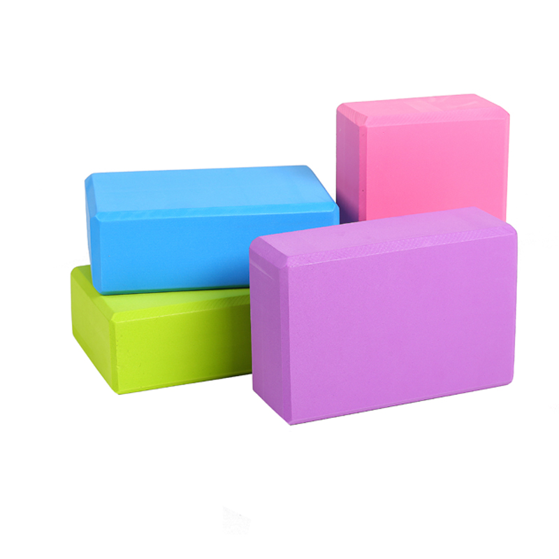 High Density EVA Yoga Block Colorful Foam Block Pilates Brick Fitness Exercise Stretching Health Training For Gym Body Shaping