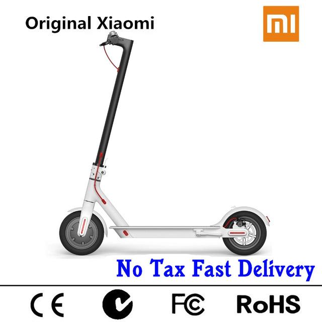 Prix pour D'origine xiaomi scooter mini 2 roues smart électrique scooter skate board adulte pliable hoverboard m365 30 km vie mijia