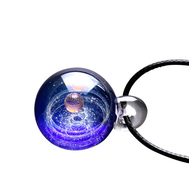 Tiny Universe Crystal Necklace Galaxy Glass Ball Pendant Necklace Jewelry Gift HSJ88 3