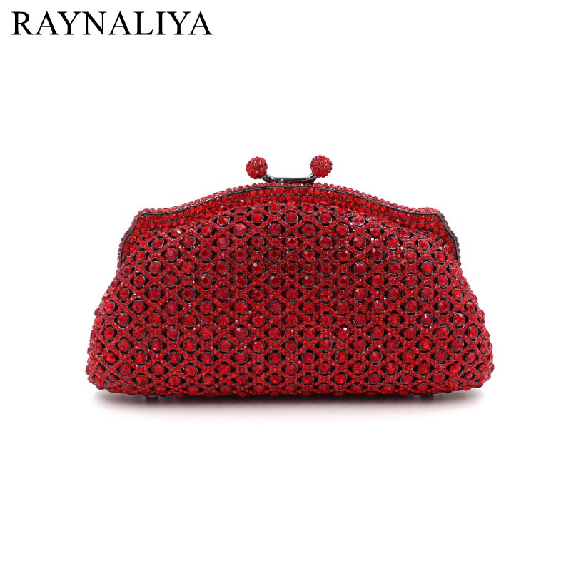 Crystal Minaudiere Clutch Handbag Women Evening Bags Ladies Metal Hardcase Wedding Party Bag Diamond Clutches Purse SMYZH-E0044