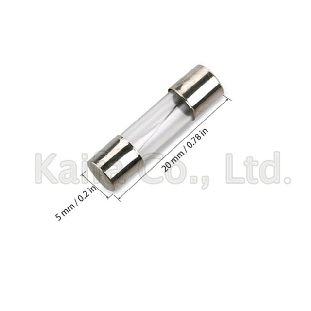 100pcs/lots 5x20mm Quick Blow Glass Tube Fuse Assorted Kits,Fast-blow Glass Fuses