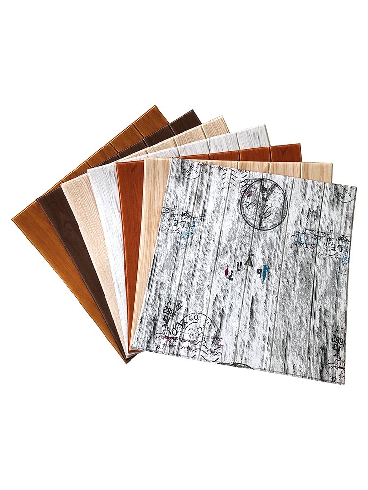3D wood paper stereo wall affixed to the TV background skirt wallpaper living room wallpaper waterproof