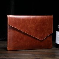 Original Vintage Leather Filing Products Business Men S File Envelope Package Crazy Horse Vintage Retro Style