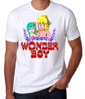 T Shirt Hot Sale Wonderboy Retro 80s Arcade Machine Game Classic Adventure Fun White Geek T