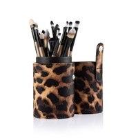 Neue Modische Beruf 20 stücke Kosmetik Make-Up Werkzeug Powder Foundation Pinsel Mit Schöne Original Leopard Case1