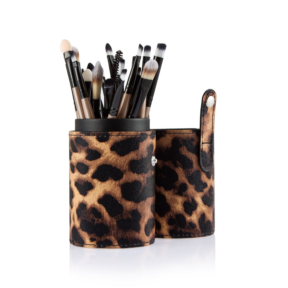 New Trendy Profession 20pcs Cosmetic Makeup Tool Powder Foundation Brush With Beautiful Original Leopard Case1
