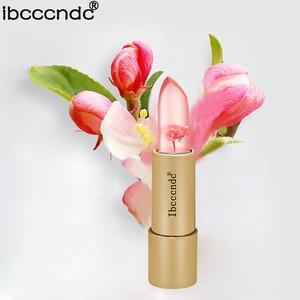 Jelly flower Lipstick Magic Lip Gloss Stick Color Temperature stra Lipstick Moisturizer Bright Lips Care Mirror Makeup Comstics