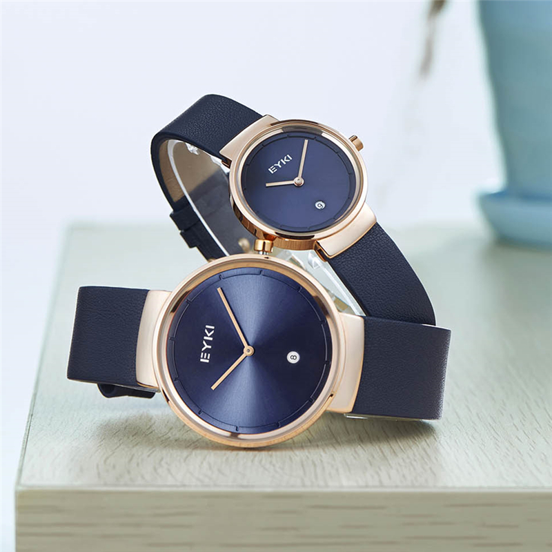 EYKI Women Men Watch 2017 Luxury Brand Quartz Minimalist Watches Waterproof Ladies Leather Wristwatch Men Clock relogio feminino classic simple star women watch men top famous luxury brand quartz watch leather student watches for loves relogio feminino