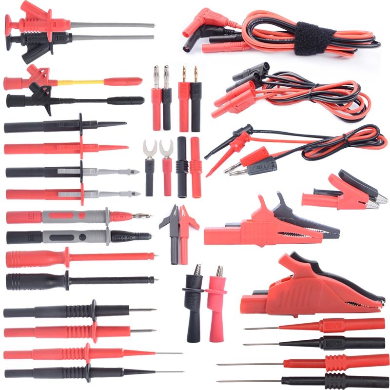 цена Digital Multimeter Test Lead Kit Flexible Safety Professional Kit Probe Alligator Clip Replaceable Tips Test Hooks Electrical