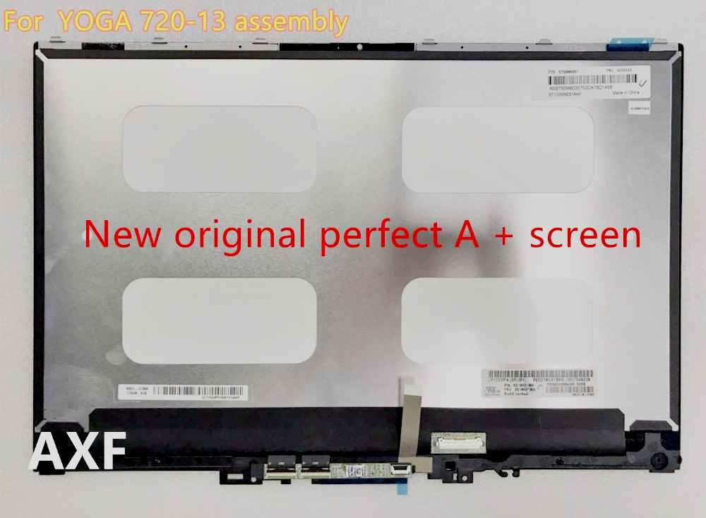 original For YOGA 720-13IKB 720-13 screen assembly LP133WF4 SPB1 1920X1080 B133ZAN02.3 3840X2160 4K LCD screen lp133wf4 spa2 fit lp133wf4 sp a2 lp133wf4 spb1 lp133wf4 sp b1 ips edp 30 pin 1920x1080 laptop led screen panel