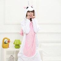 Free Shipping Pink Unicorn Onesie Kigurumi Animal Pajamas Adult Anime Cosplay Costume Unisex Onesie Sleepwear