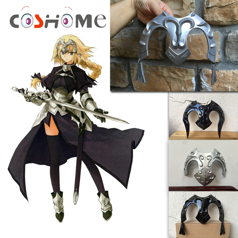 Coshome Fate/Apocrypha Grand Order Jeanne Headwear Cosplay Costume Wigs Black And White Headdress Yellow Wig Anime Accessories
