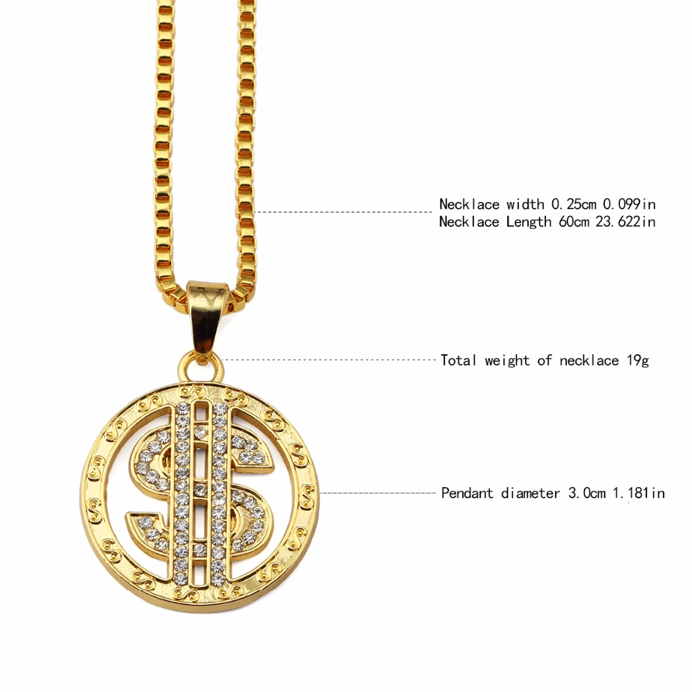 Iced out gold round dollar sign pendant necklace small pendant men iced out gold round dollar sign pendant necklace small pendant men hip hop chains pendants for night bar club rock in pendant necklaces from jewelry aloadofball Image collections