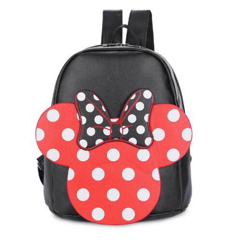 Children girl shcool backpacks lovely Mickey minnie big bowknot backpack cute girls mochila bag girl bags