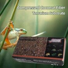 Сжатый кокосовое волокно Coir гранулы питательный грунт легкий завод сжатый база сад змеи рептилии Домашние животные
