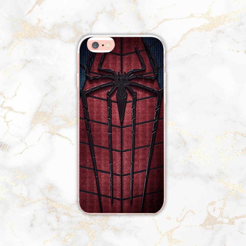 Marvel cover case For iPhone 8 7 6 6S Plus X 5 5S SE XS XR XS max 놀라운 전화 케이스 Superman Venom Shield 스파이더 맨 로고 7plus