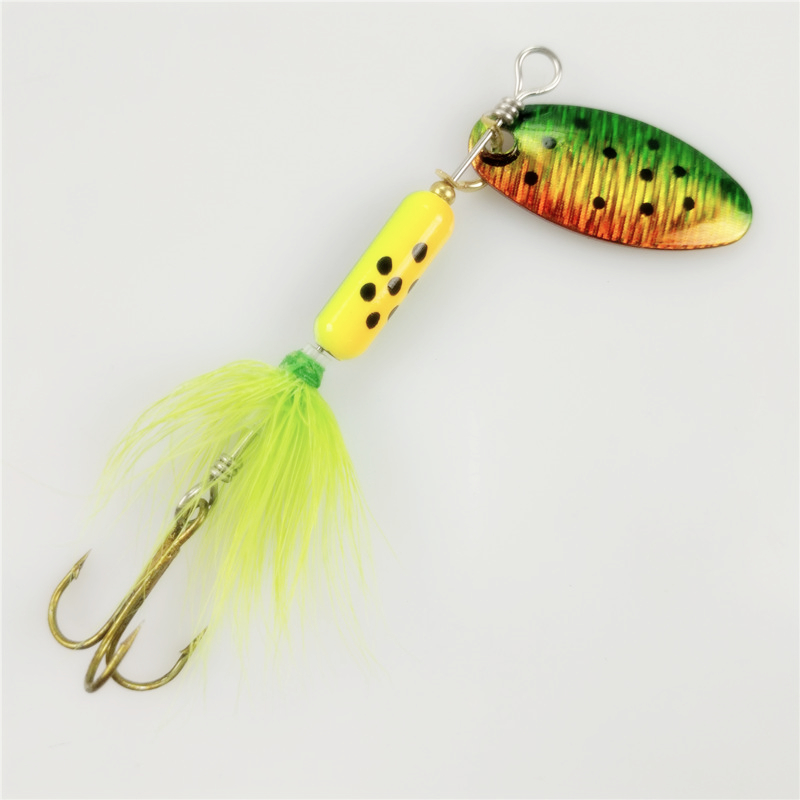 Sequin spoon metal wobble fishing lures spinner baits for Spinner fishing lures