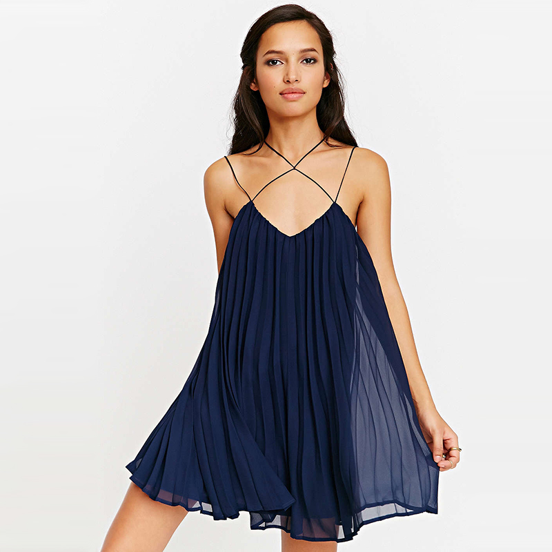 Women Summer Slip Dress Short Dresses Chiffon Womens Clothing New