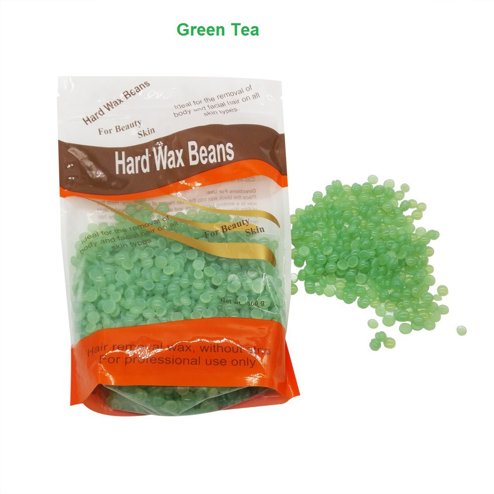 Hot 300g Pack Paper Depilatory Wax Hair Removal Solid Hard Wax Beans Green Tea Flavor For Men Women Body Hair Epilation Bean Bean Removable Hardflavor Tea Aliexpress