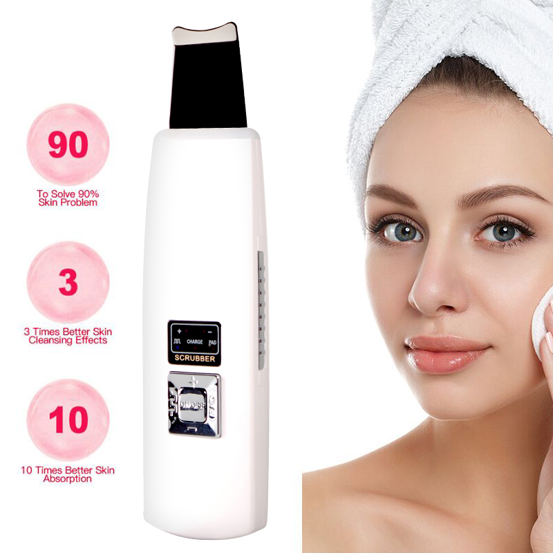 Ultrasonic Skin Scrubber Blackhead Remove Deep Face Cleaning Skin Tightening Machine Wrinkles And Spots Facial Whitening Lifting