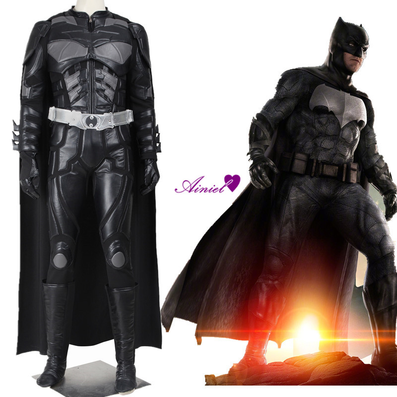 Justice Leagues Batman Cosplay Costume Bruce Wayne Cape The Dark Knight Rises Clothing Superhero Adult Men Outfit Full Set