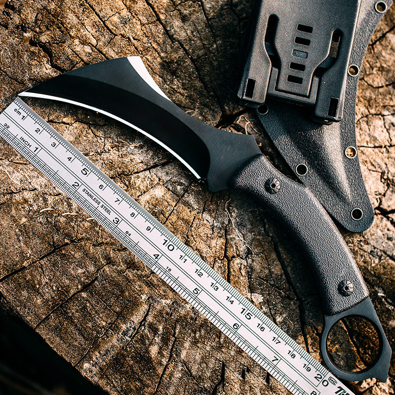High Hardness Army Tactical Karambit Knife Outdoor Claw Machete Hunting Fixed Blade Knives Combat Survival Gear Camping EDC Tool